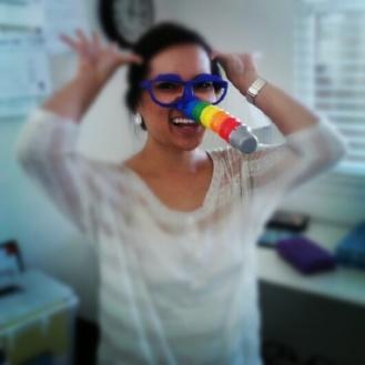 Caroline at work! Photo by Caroline Motus